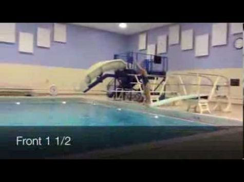Girls' dive featuring junior Dana Liva