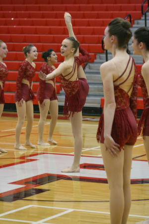 Dance team performs at sectional