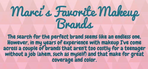 Marci's favorite makeup brands