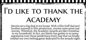 I would like to thank the Academy