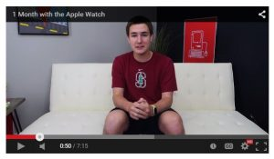 Prospect senior Keaton Keller reviews the Apple Watch for his YouTube channel. His channel, TechSmartt, has over 400,000 subscribers.