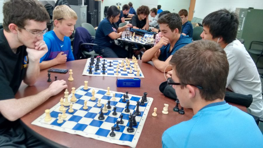 Prospects+Chess+Club+practices+in+the+staff+cafe+after+school+in+preparation+for+their+meet.