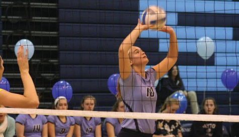 Girls' volleyball team ends season with tough battle