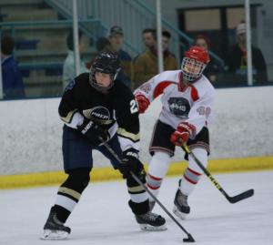 Prospect senior Taylor Clark plays for PREP Hockey. (Photo courtesy of Taylor Clark.)