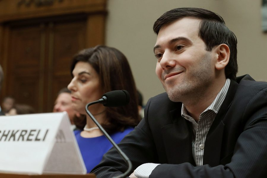 Martin+Shkreli+smirks+during+a+House+Oversight+and+Government+Reform+Committee+hearing.+Shkreli+is+the+former+CEO+of+Turing+Pharmaceuticals+LLC.
