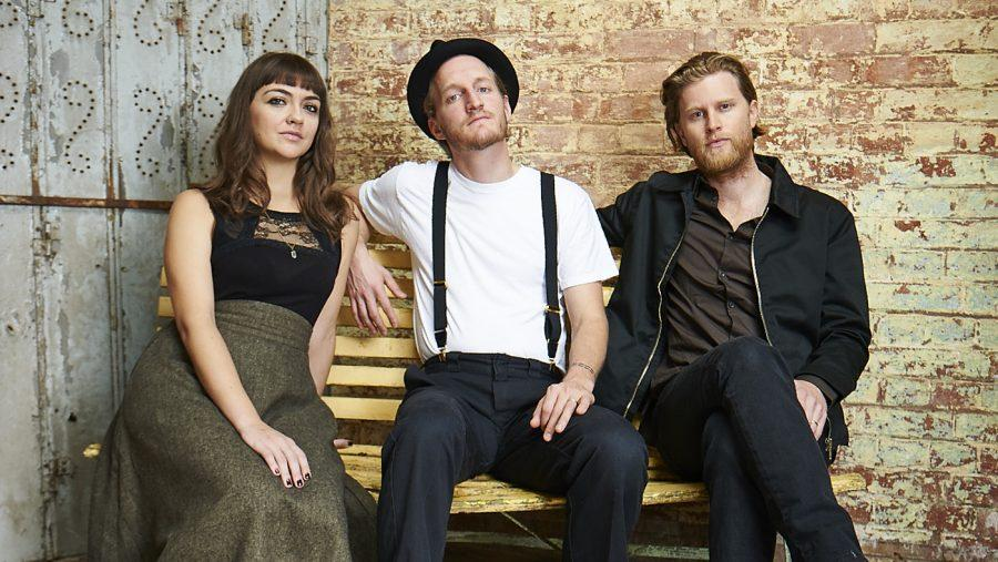 The+Lumineers+%28from+left%29%3A+Neyla+Pekarek%2C+Jeremiah+Fraites+and+Wesley+Schultz.