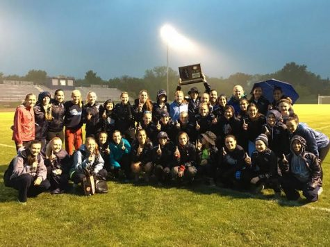 Girls' track and field sets four individual records