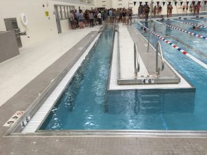 The handicap-accessible pool entrance was a unique addition to the pool. Assistant Principal Frank Mirandola believes this will further enhance the pool's educational opportunities.