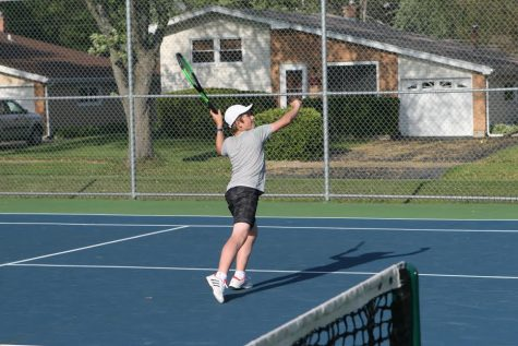 Waterbreak interview with boys' tennis player freshman Mikey Gavrincea