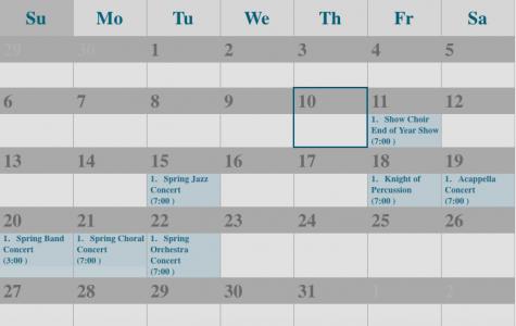 End of Year show Calendar