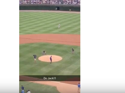 sophomore throws first pitch at cubs game