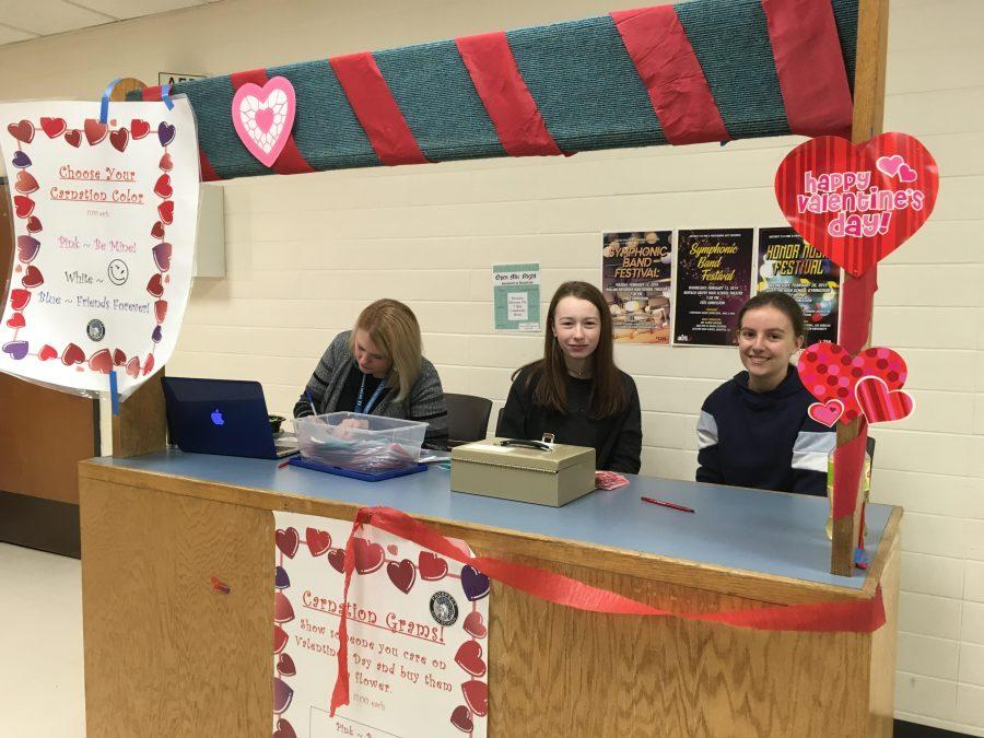 Carnations return, on sale during lunch hours