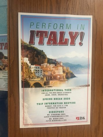 music program plans trip to italy