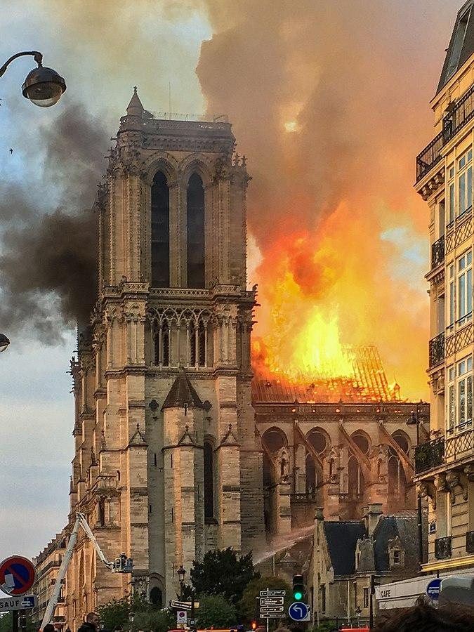 Historic+Notre+Dame+Cathedral+Engulfed+In+Flames