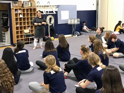 Tantillo teaches yoga, mindfulness to P.E classes