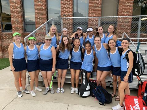 Girls Tennis Places Second at Conference Meet