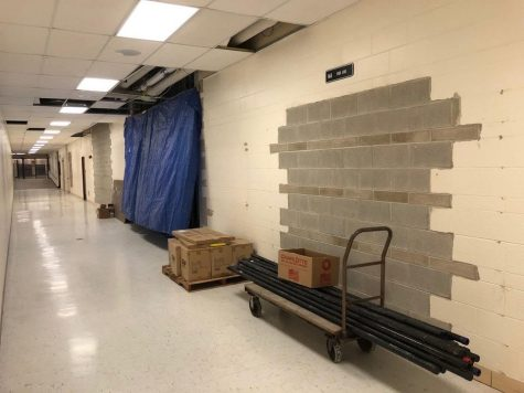 Renovations can be seen in a Prospect hallway.