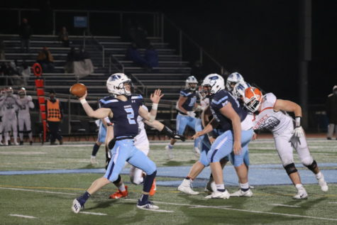 Quarterback Gary Moeller passed for 333 yards and four touchdowns. He also added a rushing touchdown and an interception returned for a touchdown. (photo by Alexis Esparza)